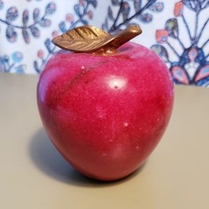 Marble Apple Paperweight Decor